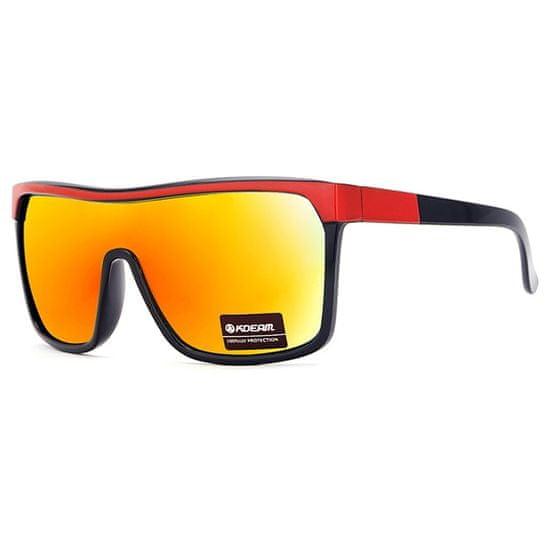 KDEAM Scottmc 2 sončna očala, Black & Red / Orange