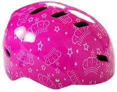 Volare Přilba na Kolo a Skate, Pink Queen 55-57 cm
