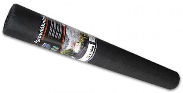 Bradas Agrovláknina 50g/m² černá proti plevelu, 50x1,6m BR-AWB5016050
