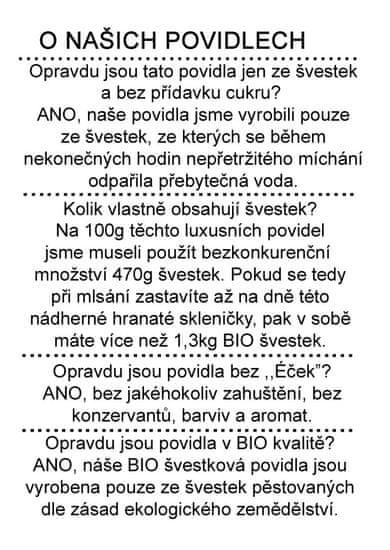 Dr. Hlaváč BIO Švestková povidla 280 g BEZ přídavku CUKRU
