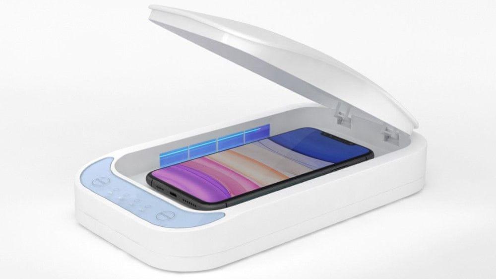 UV sterilizér pro mobilní telefony s nabíjením FIXSTE-WH