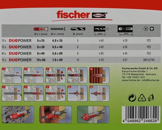 Fischer Sada hmoždinek a vrutů DuoPower 280ks