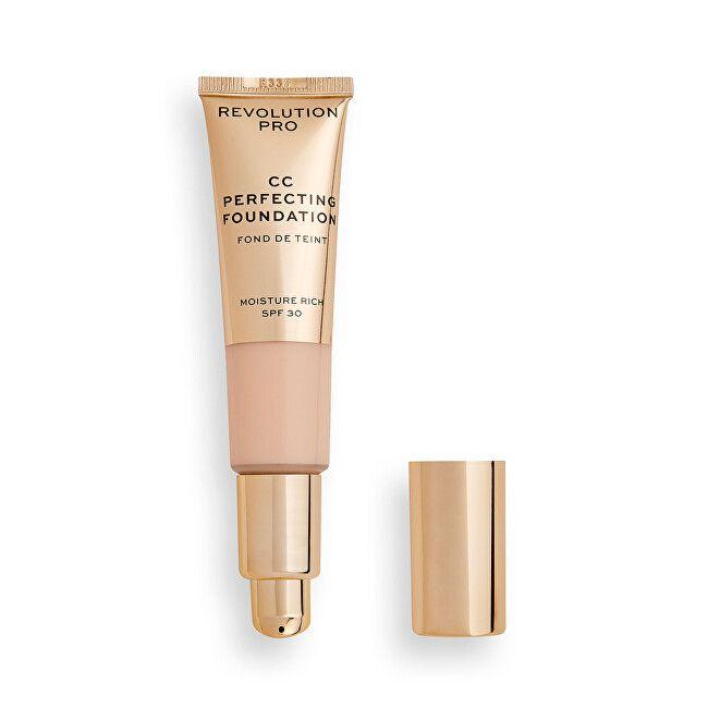 Makeup Revolution Multifunkční make-up pro suchou až kombinovanou pleť SPF 30 CC Cream Perfecting Fo