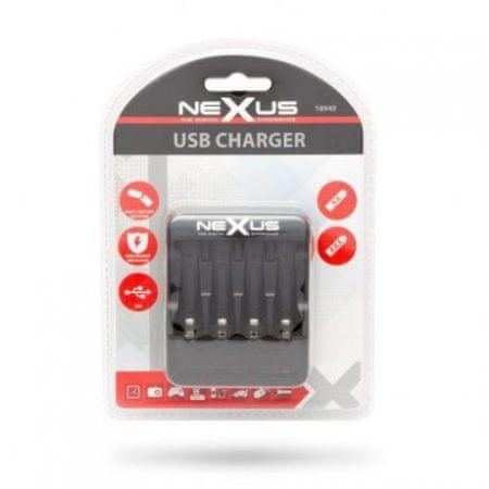 Nexus USB polnilec za NI-MH / CD polnilne baterije