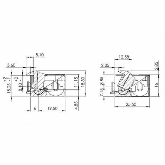 Dorcas Elektrický zámek DORCAS DS41-2NDF 8-12V AC/DC 16,4mm (4005100380)