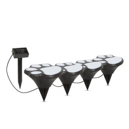 GARDEN OF EDEN LED solarna svetilka – pasji odtis, plastika – črna – 360 cm
