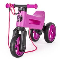 Teddies trikolesnik NEON Funny Wheels Super Sport 2v1, roza