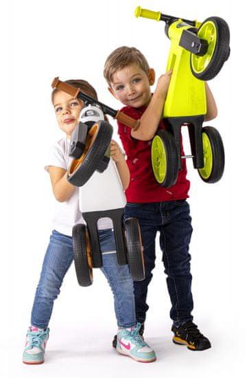 Teddies trikolesnik NEON Funny Wheels Super Sport 2in1