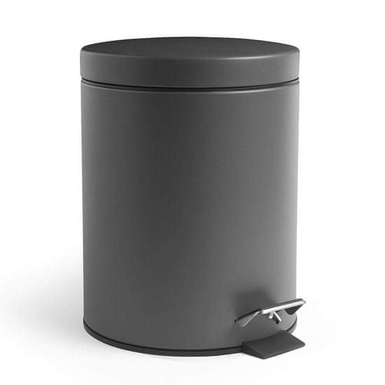 VonHaus kanta za otpad, 5 l, mat siva