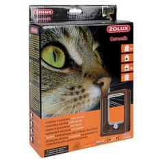 Zolux CAT DOOR TUNEL ajtó macskáknak négypontos zárral 15,5x17cm barna