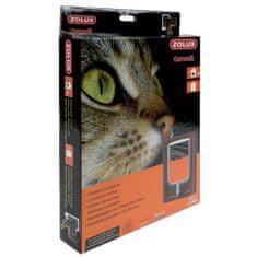Zolux CAT DOOR ajtó macskáknak kétpontos zárral 15,5x17cm barna
