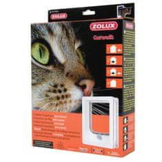Zolux CAT DOOR TUNEL ajtó macskáknak négypontos zárral 15,5x17cm fehér