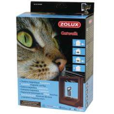 Zolux CAT DOOR ajtó macskáknak mágneses zárral 15x17cm barna