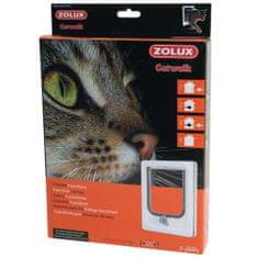 Zolux CAT DOOR ajtó macskáknak négypontos zárral 15,5x17cm fehér