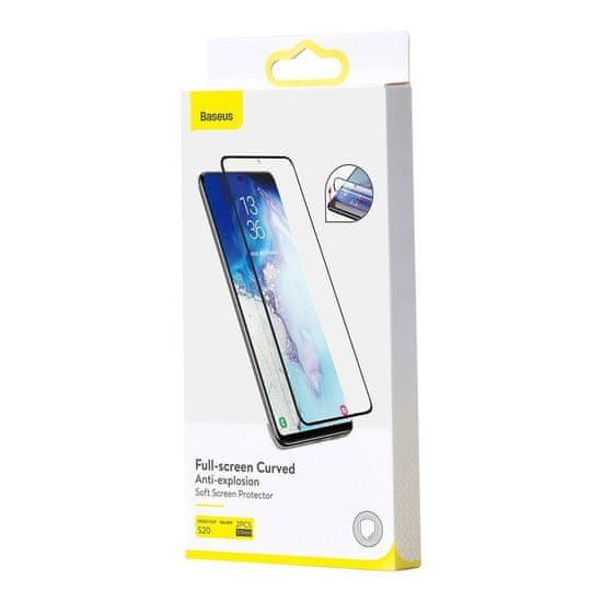 BASEUS 3D Full Screen 2x Film za Samsung Galaxy S20, črna