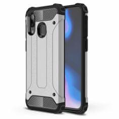 MG Hybrid Armor plastika ovitek za Samsung Galaxy A40, srebrna