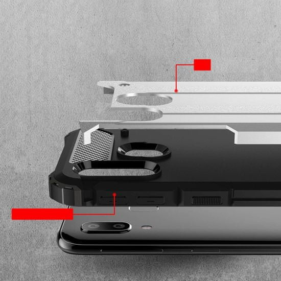 MG Hybrid Armor plastika ovitek za Samsung Galaxy A40, modra