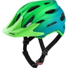 Alpina Sports Carapax Flash otroška kolesarska čelada, modro-zelena, 51-56