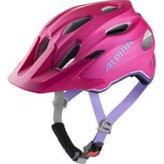 Alpina Sports Carapax Flash otroška kolesarska čelada, roza, 51-56