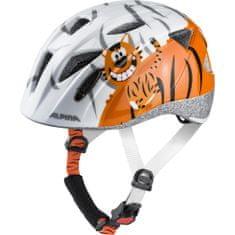 Alpina Sports Ximo otroška kolesarska čelada, belo-oranžna, 47-51