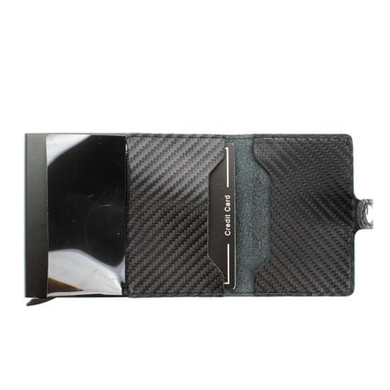 Gregorio Černá kožená minipeněženka