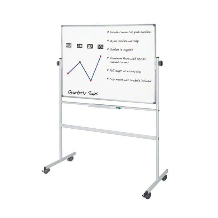 Mobilní oboustranná magnetická tabule 180x120 cm