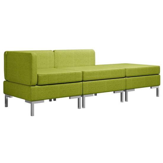 slomart Sedežna garnitura 3-delna blago zelena