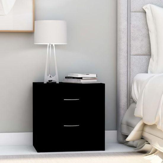 shumee Nočne omarice 2 kosa črne 40x30x40 cm iverna plošča