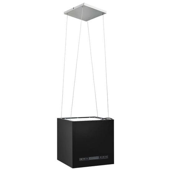 shumee Wiszący okap nad wyspę, dotykowy LCD, 37 cm, stal