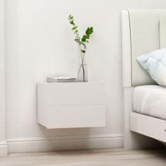 shumee Nočné stolíky 2 ks, biele 40x30x30 cm, drevotrieska