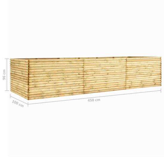 shumee Podwyższona donica, 450x100x96 cm, impregnowane drewno, 19 mm