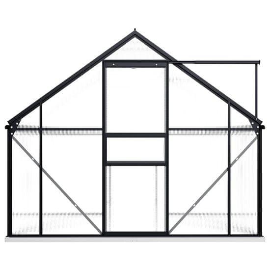 shumee Szklarnia z ramą podstawy, antracytowa, aluminiowa, 4,75 m²