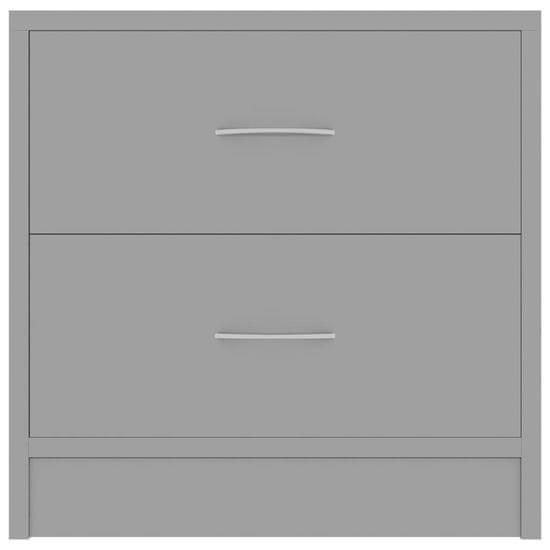 shumee Szafka nocna, wysoki połysk, szara, 40x30x40 cm, płyta wiórowa