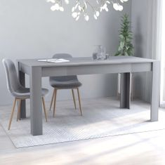 shumee Jedilna miza siva 160x80x76 cm iverna plošča