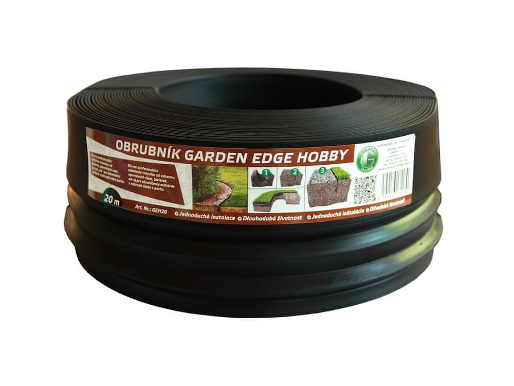 LanitPlast zahradní obrubník GARDEN EDGE HOBBY 20 m černý