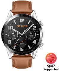Huawei Watch GT 2, hnedá koža
