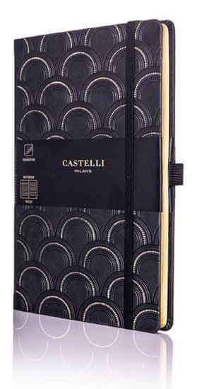 Castelli Italy Zápisník C&G Art Deco Gold