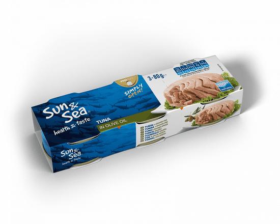 Sun&Sea Tuniak v olivovom oleji 16x3pack