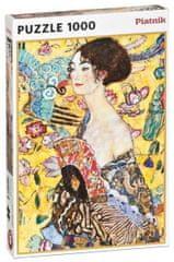 Piatnik puzzle Klimt - Kobieta z wachlarzem 1000 elementów