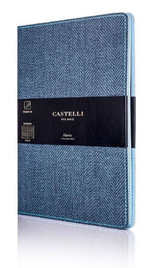 Castelli Italy Zápisník Harris Slate Blue