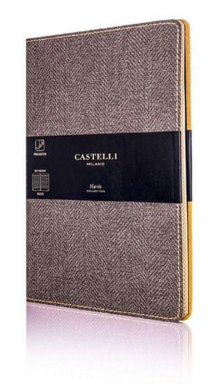 Castelli Italy Zápisník Harris Tobacco Brown