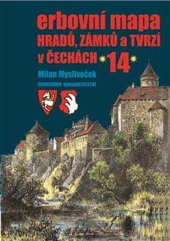 Milan Mysliveček: Erbovní mapa hradů, zámků a tvrzí v Čechách 14