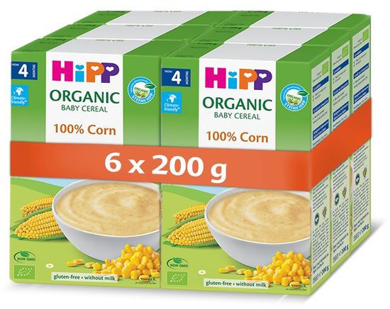 HiPP BIO Prvá obilná kaša - 100% kukuričná 6x200 g