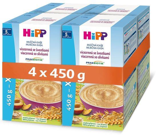 HiPP PRAEBIOTIK vícezrnná se švestkami 4 x 450 g