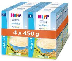HiPP mléčná první kaše pro kojence vanilková od uk. 4. měsíce, 4 x 450 g