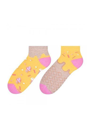 More Asymetrické dámské ponožky More 034 světle zelená 35-38