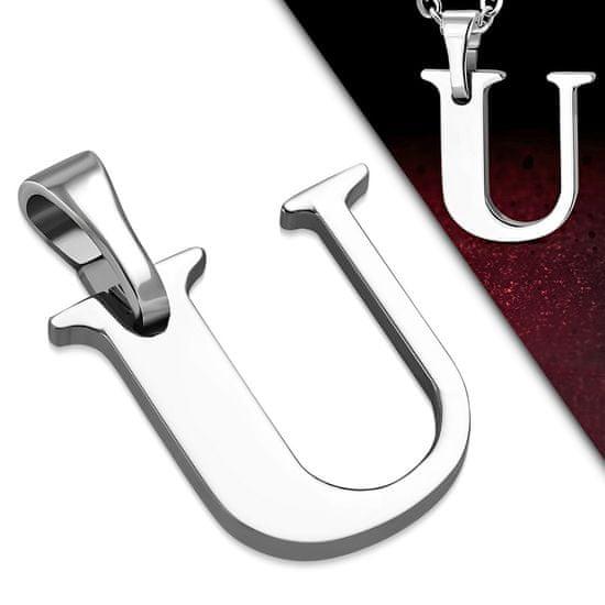316Steel Přívěsek z chirurgické oceli - Písmeno U