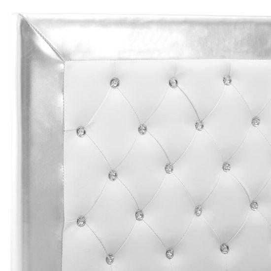 shumee Rama łóżka, biała, sztuczna skóra, 90 x 200 cm