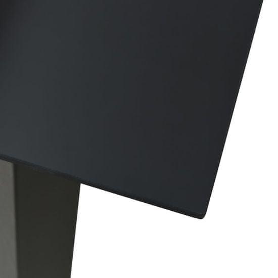 shumee 5-cz. zestaw mebli ogrodowych, rattan PVC, czarny