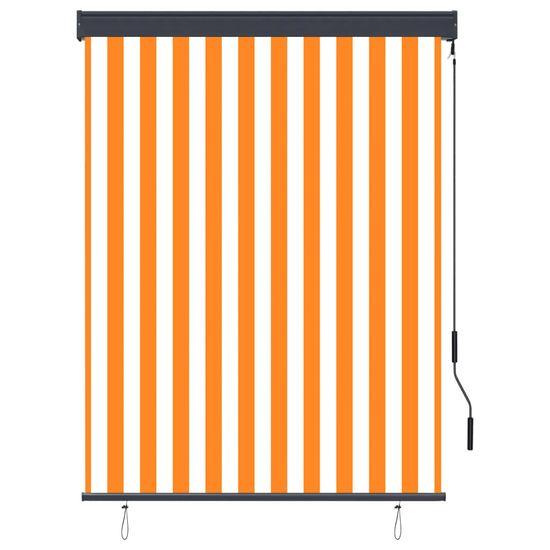 shumee Roleta zewnętrzna, 120x250 cm, biało-pomarańczowa